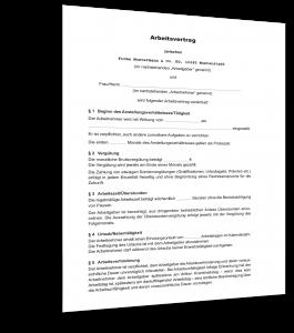 Unbefristeter Arbeitsvertrag Muster
