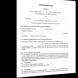Arbeitsvertrag Ohne Tarifbindung Muster Standardvertraegede