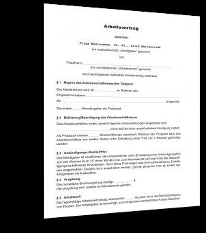 Projektbezogener Arbeitsvertrag befristet Muster