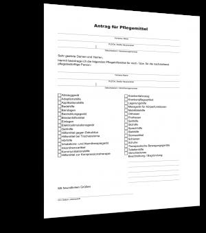 Antrag für Pflegemittel Muster