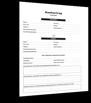 Kaufvertrag Gegenstände Muster