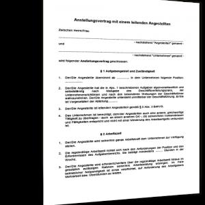 arbeitsvertrag-leitender-angestellter-muster-1