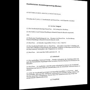 anstellungsvertrag Muster