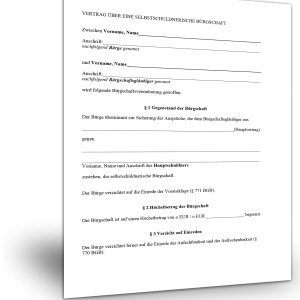 buergschaftsvertrag Muster