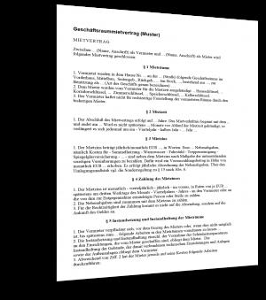Berühmt Pachtvertrag Muster - Standardvertraege.de #MX_78