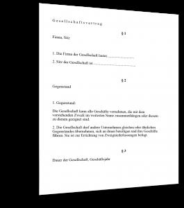 Gesellschaftsvertrag Gründung Muster
