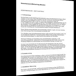 gewerberaum-mietvertrag Muster