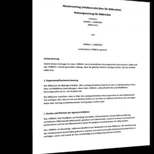 partnerschaftsvertrag muster urheberrechtsvertrag muster - Trennungsvereinbarung Muster Kostenlos