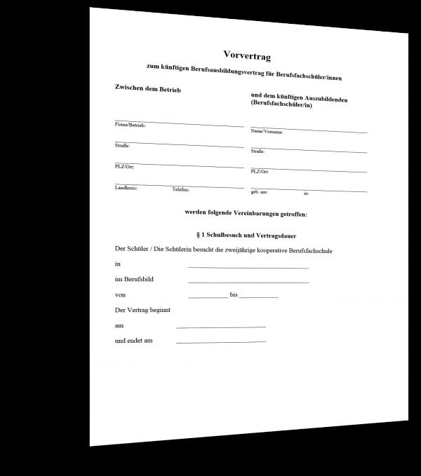 vorvertrag_berufsausbildung Muster