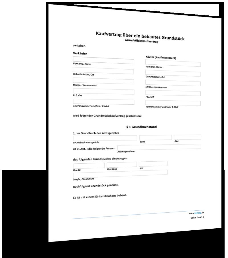 Kaufvertrag Unbebautes Grundstuck Muster Zum Download 15
